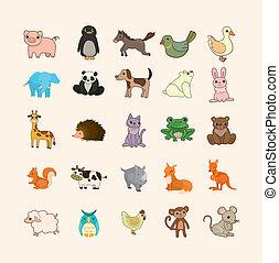 sätta, animal ikon