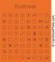 sätta, av, affär, enkla symboler