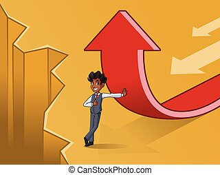 sätta, av, affärsman, in, undertröja, ändring, av, a, riktning, begrepp