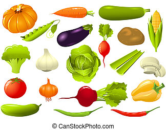 sätta, av, grönsaken