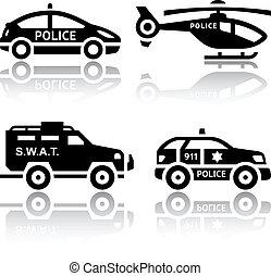 sätta, av, transport, ikonen, -, polis, del, 2