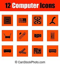 sätta, dator ikon