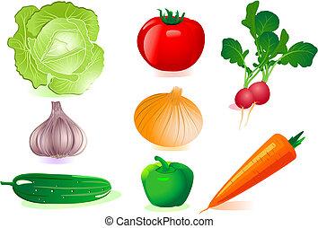 sätta, grönsaken