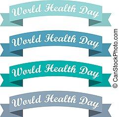 sätta, illustration, day., vektor, hälsa, värld, remsor