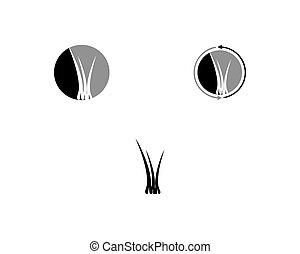 sätta, illustration, hår, vektor, design, mall, logo, ikon
