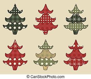 sätta, jul, 1, träd