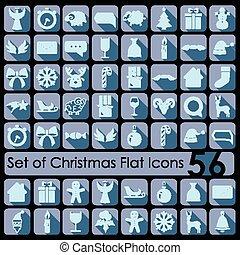 sätta, jul, ikonen