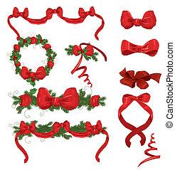 sätta, jul ornamenter