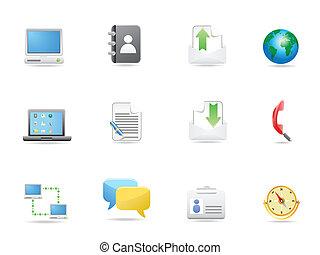 sätta, kontor, affärsverksamhet ikon