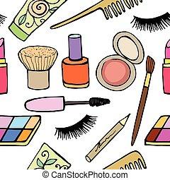 sätta, kosmetika