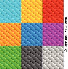 sätta, mönster,  repeatable,  9,  seamlessly, geometrisk