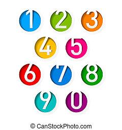 sätta, numrerar