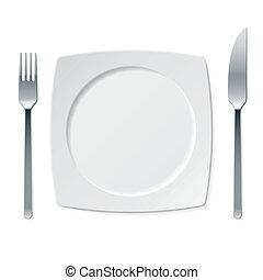 sätta, objekt, kök