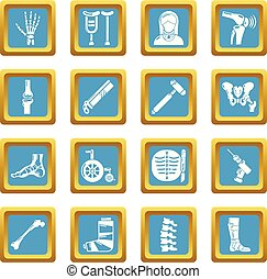 sätta, orthopedist, ikonen, sapphirine, vektor, fyrkant, ...