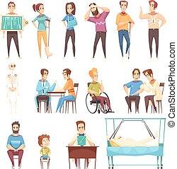 sätta, orthopedist, traumatologist, läkare