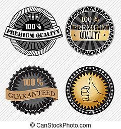 sätta, premie, årgång, etiketter, retro, kvalitet, märken