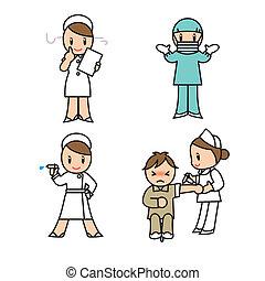 sätta, sjukhus