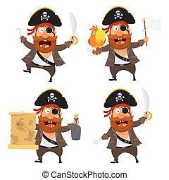 sätta, tecken, sjörövare