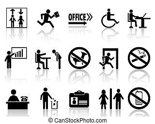 sätta, underteckna, ämbete ikon