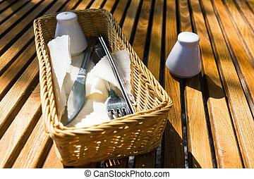 sättande tabell, restaurang