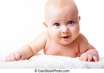 säugling, glücklich