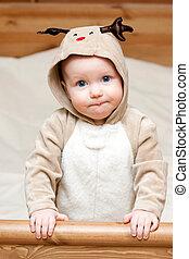 säugling, hirsch, kostüm