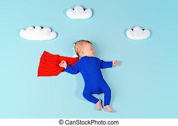 säugling, superhero