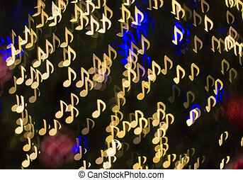 sång, ), (, anteckna, bokeh, defocused, bakgrund, melodi