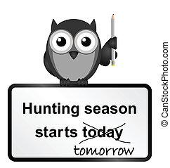 sæson, jagt