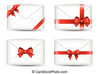sæt, bånd, konvolutter