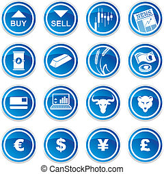 sæt, handlende, iconerne