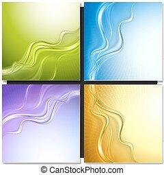 sæt, i, abstrakt, vektor, baggrunde
