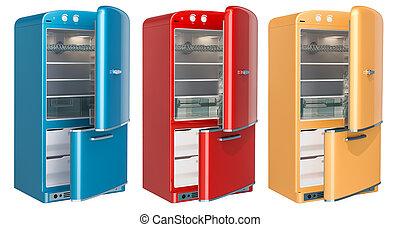 farvet køleskab