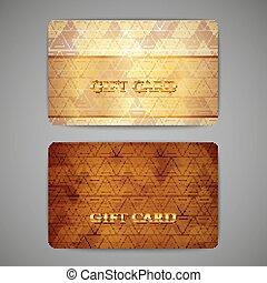 sæt, i, gave, cards