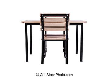sæt, i, køkken, furniture, isoleret, på hvide