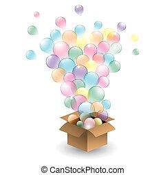 sæt, i, multicolored, balloons., vecto