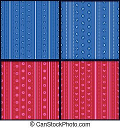 sæt, i, stribet, mønstre