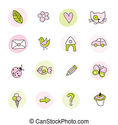 sæt, i, symboler