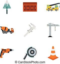 sæt, lejlighed, firmanavnet, konstruktion, iconerne