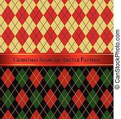 sæt, mønster, argyle, seamless, 2, konstruktion, jul