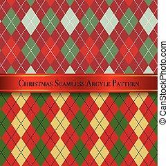 sæt, mønster, argyle, seamless, konstruktion, 4, jul