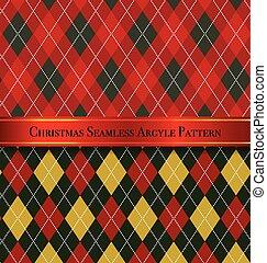 sæt, mønster, argyle, seamless, konstruktion, 6, jul