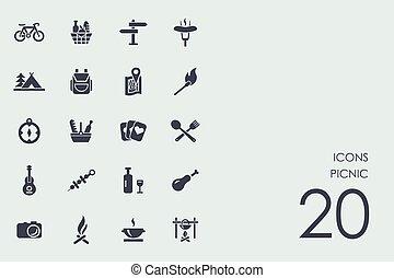 sæt, skovtur, iconerne