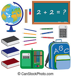 sæt, undervisning, school., emne