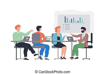 séance, équipe, business, meeting., gens, groupe