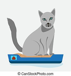 séance, box., illustrations., clipart, chat, chaton, ...