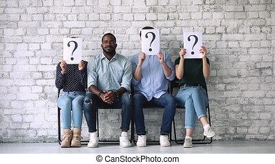 séance, chaise, inconnu, candidat, noir, jeune, métier, ...