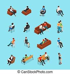 séance, ensemble, caractères, gens