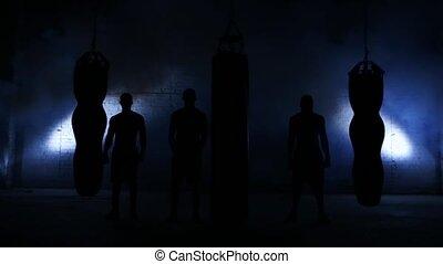 séance entraînement, boxe