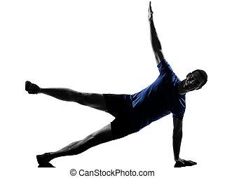 séance entraînement, exercisme, homme